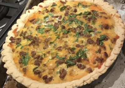 Cheese & Sausage Quiche