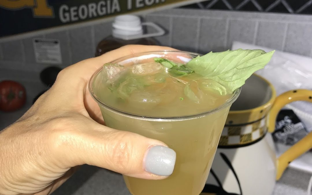 Vodka Apple Cider With Basil