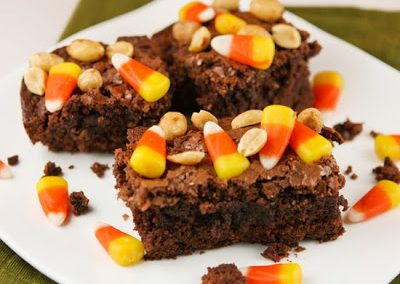 CANDY CORN BROWNIES
