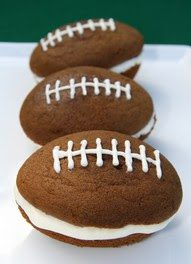 Football Whoopie Pies Adapted from Makemerryevents.com
