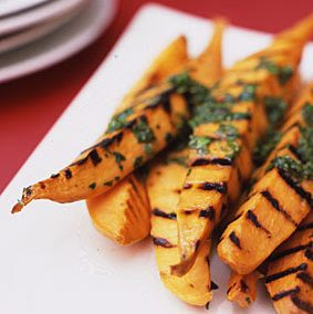 GRILLED SWEET POTATOES (Adapted from Bon Appetit)
