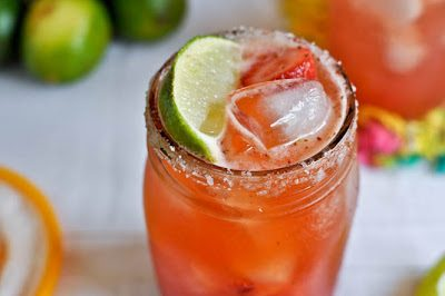 STRAWBERRY MARGARITAS (Adapted from How Sweet Eats)