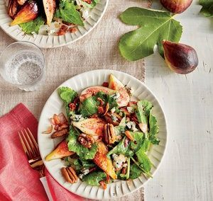 FIG AND KALE SALAD (Adapted from Southern Living)