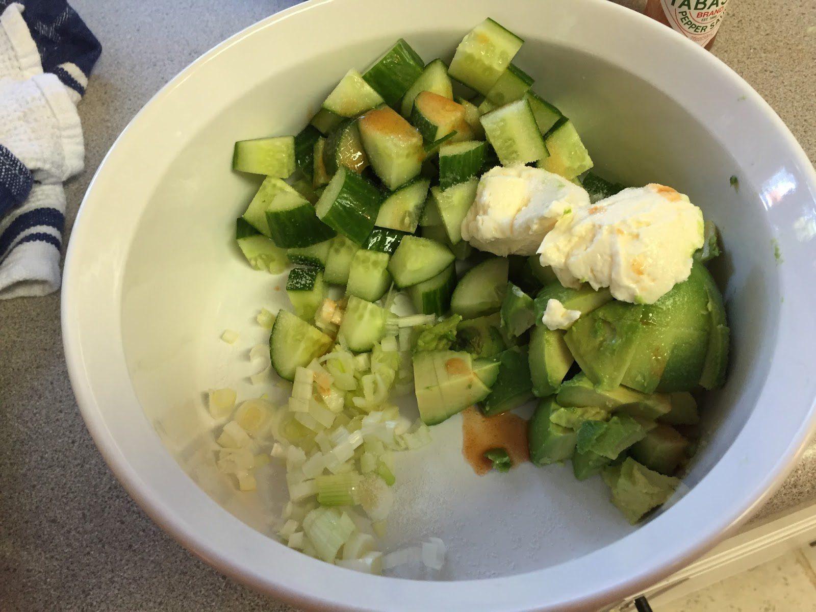 Cucumber Avocado Salad Adapted From Smitten Kitchen Tailgate Guru