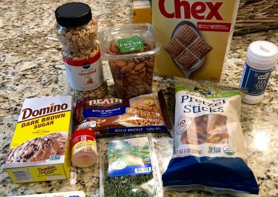 TOFFEE NUT SNACK MIX (Adapted from Martha Stewart Living)