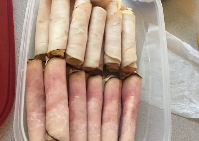 HAM AND TURKEY ROLL UPS