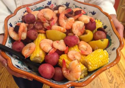 LOW COUNTRY BOIL with cocktail sauce (Adapted from all recipes)