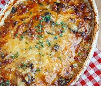 PANCETTA AND PORCINI POTATO GRATIN (Adapted from Closet Cooking)