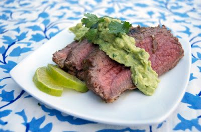 TEQUILA MARINATED TRI-TIPS w/  AVOCADO CREAM SAUCE (Adapted from Savour the Senses)