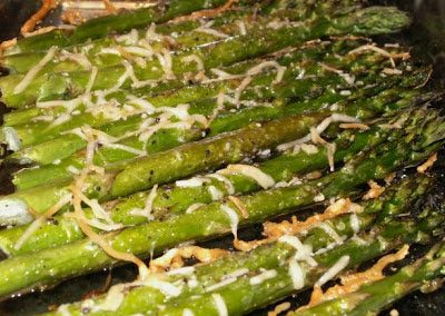 ROASTED ASPARAGUS WITH PARMESAN (Adapted from Food.com)