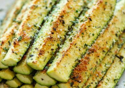 BAKED PARMESAN ZUCCHINI (Adapted from damndelicious.net)
