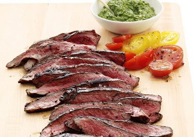 FLANK STEAK WITH SALSA VERDE (Adapted from Food Network Magazine)