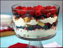 PATRIOTIC TRIFLE (Adapted from Hungry-Girl)