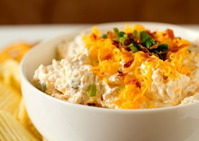 LOADED BAKED POTATO DIP (Recipe from Brown Eyed Baker)