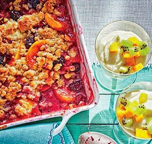 PEACH BERRY CRUMBLE (Adapted from Southern Living)