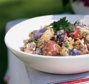 RED WHITE AND BLUE POTATO SALAD (Adapted from Cooking Light)
