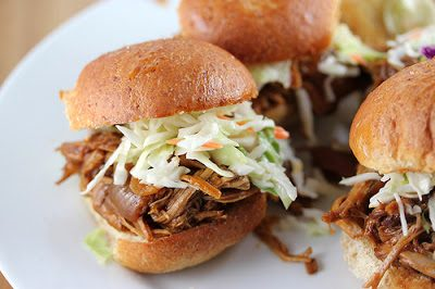 PULLED PORK SLIDERS (with cole slaw)