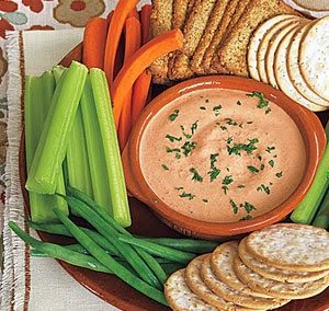 GARLICKY ROASTED RED PEPPER DIP (Adapted from MyRecipes)