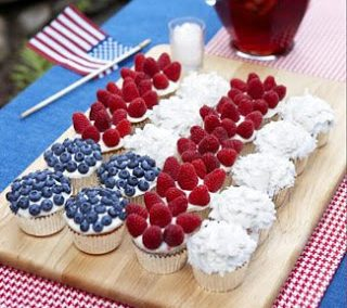 RED WHITE AND BLUE CUPCAKES By Amy Sedaris