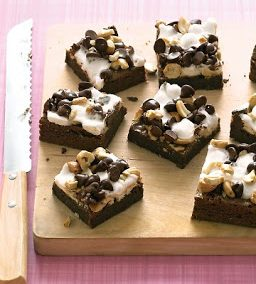 ROCKY ROAD BROWNIES (Adapted from Martha Stewart)