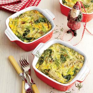 SPINACH ARTICHOKE AND GOUDA CASSEROLE (Adapted from coastal living)