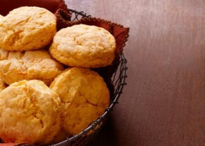 SWEET POTATO BISCUITS (Adapted from Food Network)
