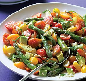 CHERRY TOMATO AND ASPARAGUS SALAD (Adapted from AllRecipes)