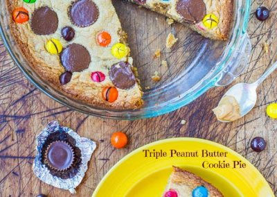 TRIPLE PEANUT BUTTER COOKIE PIE (Adapted from Averie Cooks)