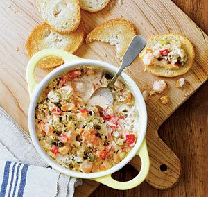 WARM SHRIMP GUMBO DIP (Adapted from Southern Living)