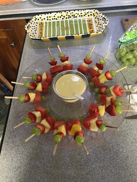 FRUIT KABOBS WITH PINA COLADA DIP