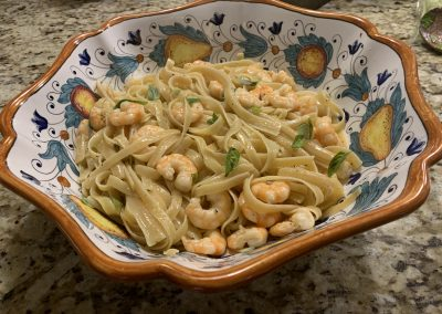 SHRIMP SCAMPI WITH FETTUCCINE  (Adapted from Southern Living)