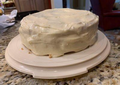 LEMON ICED RASPBERRY YOGURT CAKE  (Adapted from kitchentrialanderror.blogspot.com)