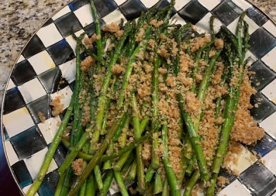 ROASTED ASPARAGUS  (Adapted from Martha Stewart)