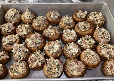 PROSCIUTTO STUFFED MUSHROOMS