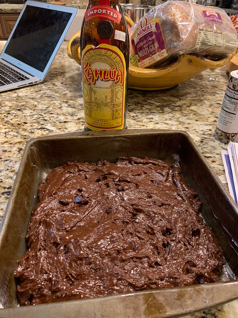 KAHLUA BROWNIES IN A PINCH