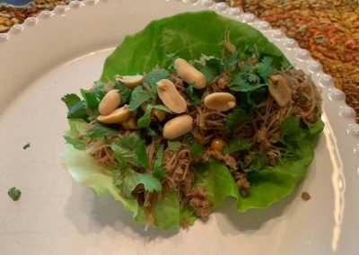 THAI CHICKEN LETTUCE WRAPS (Adapted from Pinch of Yum)