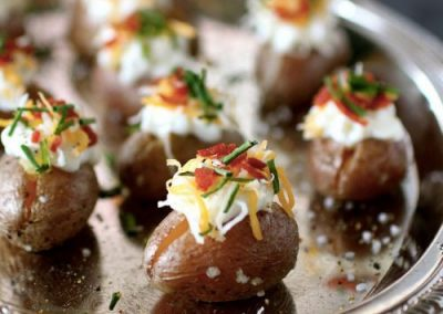 Mini Loaded Baked Potatoes