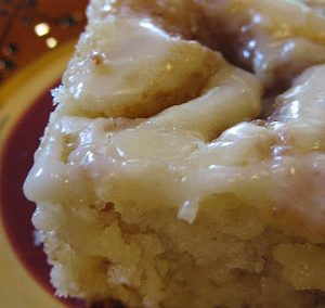 Cinnamon Roll Cake  (Adapted from cookinupnorth)