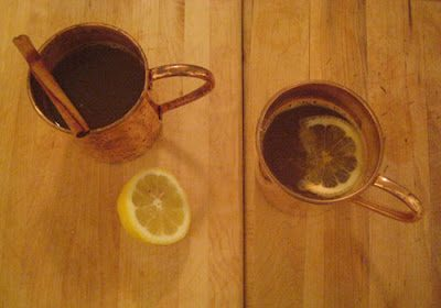 HOT APPLE CIDER WITH BOURBON (OR RUM)