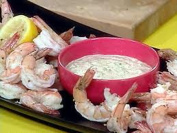 BOILED SHRIMP WITH REMOULADE AND SPICY COCKTAIL SAUCES