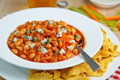 BUFFALO CHICKEN CHILI (Adapted from Kevin Closet Cooking)