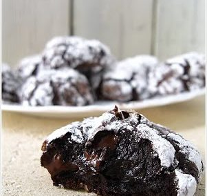 DARK CHOCOLATE COOKIES (Adapted from Divine Cooking)