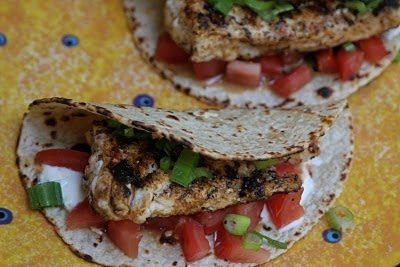 GROUPER TACOS (Adapted from Envie Recipes)