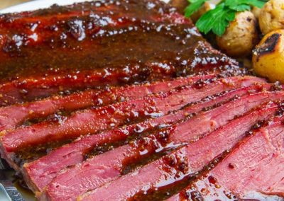 GUINNESS GLAZED CORNED BEEF (Adapted from Closet Cooking)