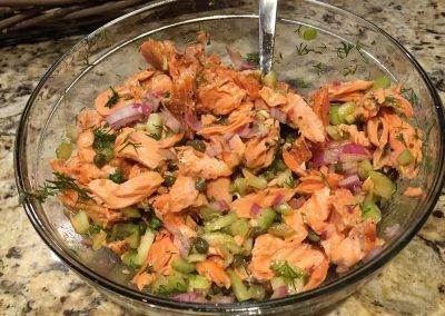 SALMON SALAD (Adapted from Ina Garten)