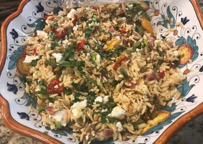 ORZO WITH ROASTED VEGETABLES AND FETA (Adapted from Ina Garten)