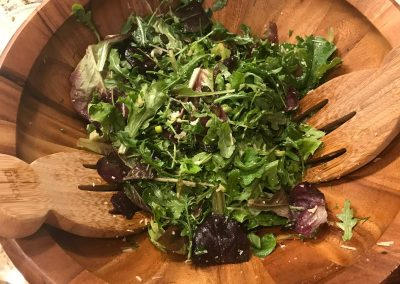 GREEN SALAD WITH LEMON VINAIGRETTE (Adapted from Southern Food and Fun)