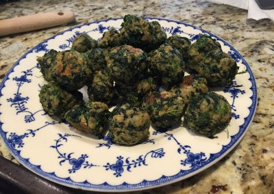 PARMESAN SPINACH BALLS (Adapted from Allrecipes.com)