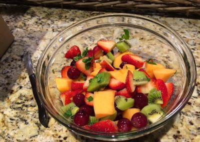 FRESH FRUIT SALAD WITH HONEY, MINT and LIME (Adapted from Epicurious)