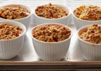 INDIVIDUAL PEACH COBBLERS (Adapted from Food Network)